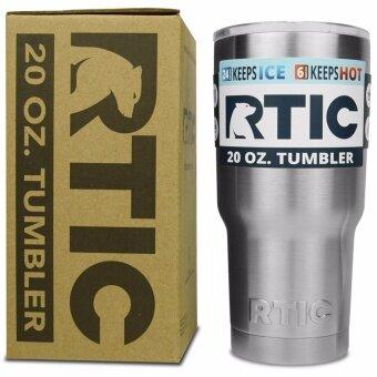 RTIC Rambler Tumbler แก้วเยติ แก้วน้ำเก็บอุณหภูมิเหมือน YETI แก้วเก็บร้อน แก้วเก็บความเย็น แก้วกาแฟ แก้วเบียร์ ขนาด 30 ออนซ์ (สีเงินRTIC )