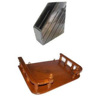 ประกาศขาย RTT แฟ้มเก็บหนังสือไม้สักทอง(สีโอ๊ค) และ RTTหิ้งวางพระเครื่องไม้สักทอง ขนาด 50 ซ.ม (13*20 นิ้ว) แพ็คคู่(Brown)