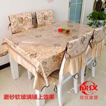 พีวีซีเคลือบนุ่มแก้วคริสตัลแผ่นเสื่อโต๊ะ ruan bo li ผ้าปูโต๊ะ