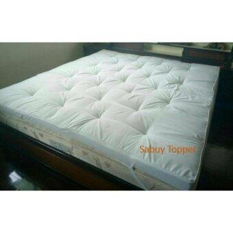 Topper 6' King Size ท้อปเปอร์ เบาะรองนอน เสริมความนุ่มกันไรฝุ่นและเชื้อรามียางรัดมุม (ฟรีกระเป๋าเก็บผ้านวม มูลค่า 390 บ.) ใช้เป็น ที่นอนปิกนิค ได้ดี