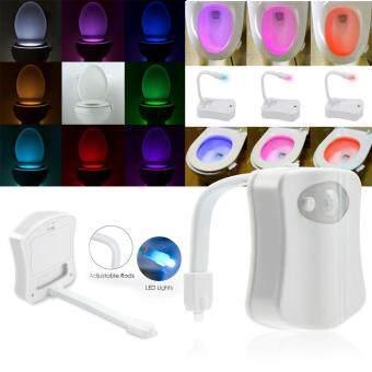 ประกาศขาย SAVFY 8 Colors LED Toilet Bathroom Night Light Human MotionActivated Seat Sensor Lamp