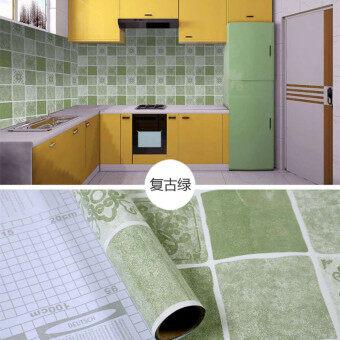 Self-adhesive กันน้ำป้องกันน้ำมันครัวสติ๊กเกอร์ติดผนัง