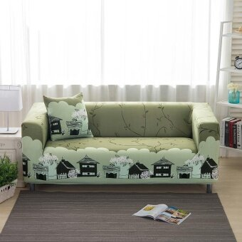 Set 1 + 2 + 3 Seater Stretch Slipcover Sofa Couch Protector Cover Living Room Decoration Style 2 - intl