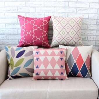 Set of 5 Style Shape Throw Pillow Case Pillow Case Sofa Home Decor Cushion Cover (No Filling) - intl
