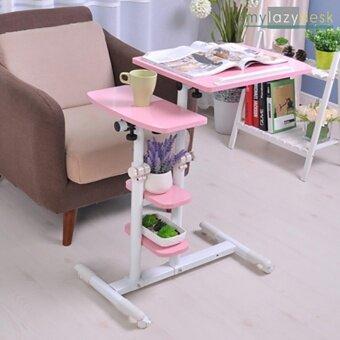 ShabbyChic โต๊ะข้างโซฟา โต๊ะข้างเตียง (รุ่น01-2 95cm.สีชมพู) โต๊ะข้าง โต๊ะโน๊ตบุ๊ค