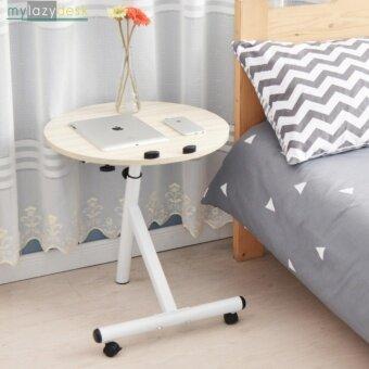 ShabbyChic โต๊ะข้างโซฟา โต๊ะข้างเตียง (รุ่นC1 48x48cm.สีไม้อ่อน )โต๊ะข้าง ที่วางโน๊ตบุ๊ค