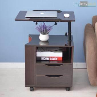รีวิว ShabbyChic โต๊ะข้างโซฟา โต๊ะข้างเตียง (รุ่น CT-1 65x45cm.สีไม้เข้ม) ตู้หัวเตียง โต๊ะโน๊ตบุ๊ค All in 1
