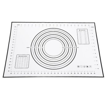 Silicone Heat Resistance Dough Flour Mat Table Pad - intl
