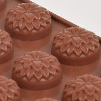 Silikone Craft ดอกไม้ ซ้อนกลีบ ขนาด 15 หลุม แม่พิมพ์ไซส์มาตรฐานใช้ทำ ขนมไทย วุ้น ชอคโกแลต ฟองดองค์ ตกแต่งหน้าเค้ก ทำน้ำแข็ง Testerสบู่ เทียนแฟนซี เทียนวันเกิด