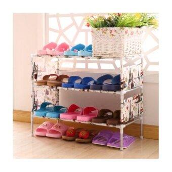 simple shoe rack ชั้นวางรองเท้า 3 ชั้น