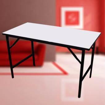 Smart Lifeโต๊ะพับได้อเนกประสงค์ขาพับ(โต๊ะประชุม)โครงขาเหล็กชุบแข็งแรง รุ่น120x60x75 ( สีขาว )