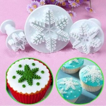 Snowflake Cake Mold Mould Baking Fondant Candy Biscuit Cookies Christmas Cutters - intl