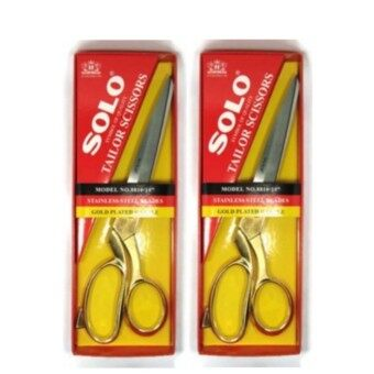(ซื้อ2ตัวลดราคาพิเศษ!!!) SOLO กรรไกรตัดผ้า NO. 8810-10\ ด้ามทอง