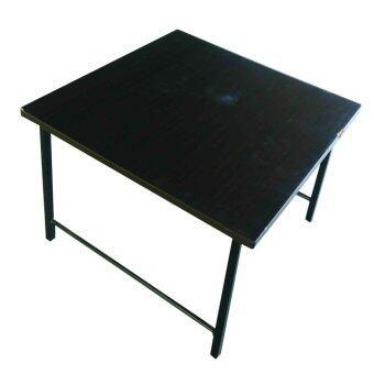 SPK Shop โต๊ะญี่ปุ่นกลางโฟฟา โต๊ะวางของเอนกประสงค์ รุ่นขาเหล็กสวิงหน้าเมลามีน (สีโอ๊ด)