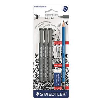 เปรียบเทียบราคา ชุดปากกาหัวเข็มStaedtler (Pigment Liner)
