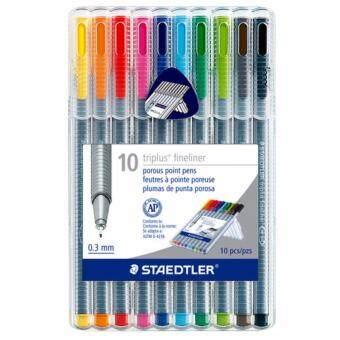 รีวิวพันทิป ปากกา Staedtler triplus 10 สี