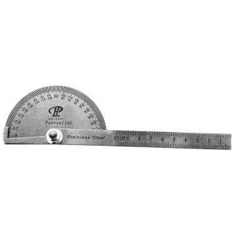 Stainless 180° Steel Rotary Protractor Angle Finder Rule Measure Tool