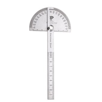 Stainless Steel 180 degree Protractor Angle Finder Rotary MeasuringRuler - intl