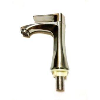 ก๊อกน้ำอ่างล้างหน้าสแตนเลสแท้ (Stainless Steel 304) มือจับแบน ...