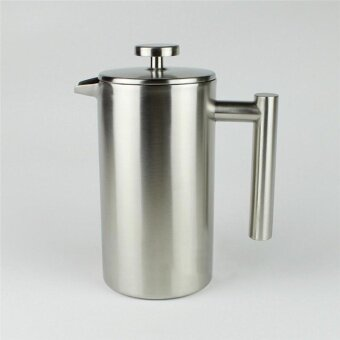 Stainless Steel Coffee Pot French Press With Coffee Filter BasketsTea Maker Double Wall French Cafetiere 800ML