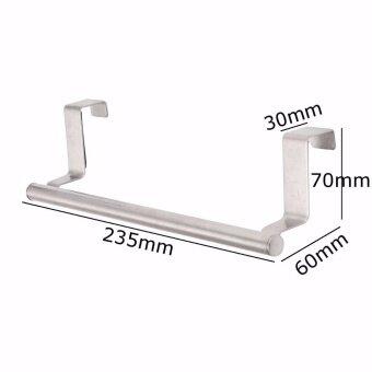 ... Stainless Steel Hook Door Towel Bar Holder Kitchen Bathroom Cupboard Rack Hanger intl 2