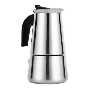 Stainless Steel Percolator Moka Pot Espresso Coffee Maker Stove Home Office Use (100ml) - intl