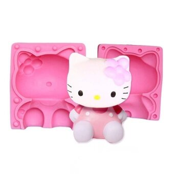 super big cat kitty Silicone Fondant DIY Baking chocolate Mold Pink\n- intl
