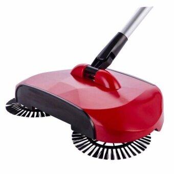 ไม้กวาดพื้น ไม้กวาดดูดฝุ่นอัจฉริยะ Sweeper Machine หมุนได้ 360 องศา (สีแดง)