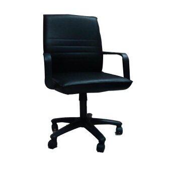 รีวิวพันทิป TGCF T01A เก้าอี้สำนักงานหุ้มหนัง - สีดำ