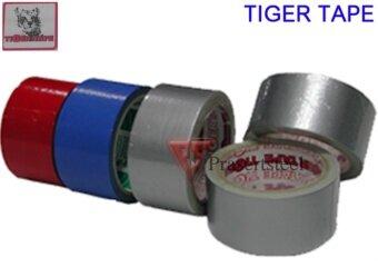 Tiger Tape เทปผ้าหลากสี 2\ x 8 หลา (สีดำ) (6 ม้วน)