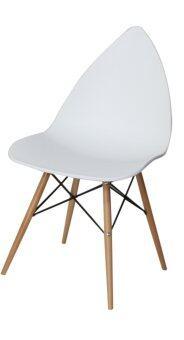 U-RO DÉCOR เก้าอี้ดีไซน์ / อเนกประสงค์ รุ่น ACRON (สีขาว/บีช)