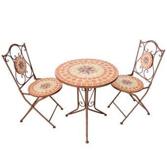 เปรียบเทียบราคา U-RO DECOR ชุดโต๊ะสนามโมเสค รุ่น FLINTSTONE (โต๊ะ 1 + เก้าอี้ 2)