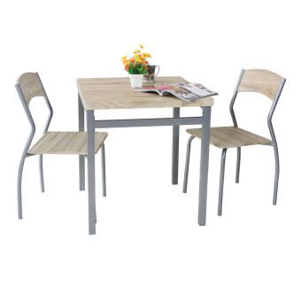 U-RO DECOR ชุดโต๊ะรับประทานอาหาร รุ่น SONOMA โต๊ะ 1 + เก้าอี้ 2(สีธรรมชาติ)