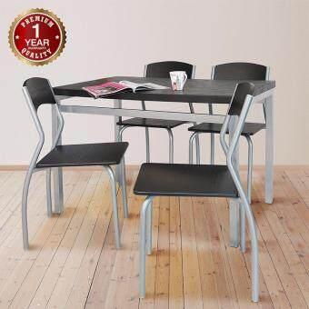 U-RO DECOR ชุดโต๊ะรับประทานอาหาร รุ่น SONOMA โต๊ะ 1 + เก้าอี้ 4 ตัว ( Black Walnut )
