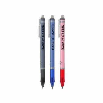 UD PENS ปากกา Erasable sLim EGLN-305 ปากกาลบได้ เจล 0.5(สีดำ/น้ำเงิน/แดง) อย่างละ 1 ด้าม(Multicolor)