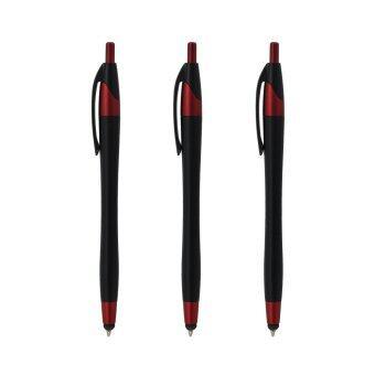 ขอเสนอ ปากกา UD PENS ปากกาลูกลื่น Stylus IPEN-143 - Black/Red (3 ด้าม)