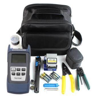 UINN Fiber Optic FTTH Tool Kit with FC-6S Fiber Cleaver and Optical Power Meter 5km Blackblue - intl
