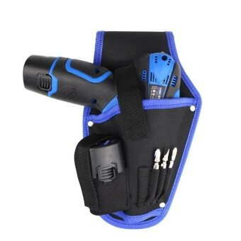 Vanker-Blue Portable Canvas Electrician Drill Holder Tool Kit WaistOrganizer Storage Bag - intl