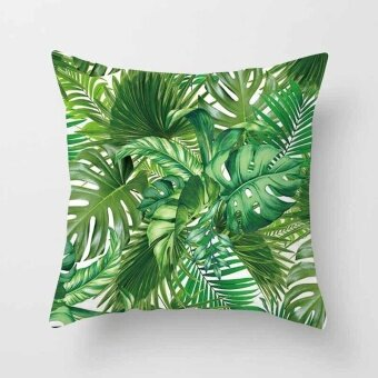 Vintage Flower Tropical Leaves Pillow Case Cushion Cover Home Decor#22 - intl