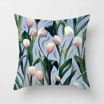 Vintage Flower Tropical Leaves Pillow Case Cushion Cover Home Decor#5 - intl