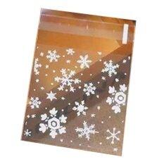 VORSTEK 100pcs/lot 3size Choose,white Snow Plastic Cookie Packaging Bags Cupcake Wrapper Bags - 10*10+3 - intl