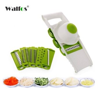 WALFOS Mandoline Slicer Vegetables Cutter with 5 Stainless Steel Blade Carrot Grater Onion Dicer Slicer Kitchen Accessories - intl