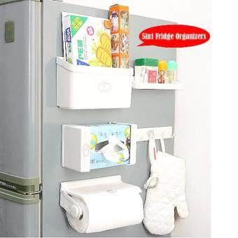 WINS 5in1 ชุดอุปกรณ์จัดระเบียบของในครัวข้างตู้เย็นแบบแม่เหล็ก 5ชิ้น 5แบบ
