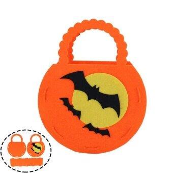 Witch Pumpkin Bag Kids Funny Candy Bag Bucket Children Handbag for Halloween - intl