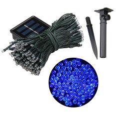 XML-Solar ไฟกระพริบโซล่าเซลล์ 200 LED (8 ฟังก์ชั่น) แสง : สีฟ้า