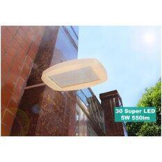 XML-Solar โคมไฟโซล่าเซลล์ 30 super bright LEDs (พร้อมขายึด) (เเสง : ขาว)