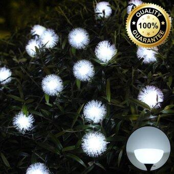 XML-Solar ไฟกระพริบโซล่าเซลล์ ทรง Chuzzle-Ball 30ดอก (เเสง : ขาว)