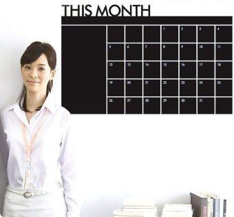 YBC Chalkboard Monthly Calendar Wall Stickers Planner RemovableWall Paper