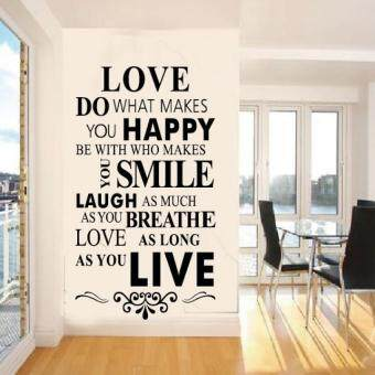 YBC Wall Stickers Custom In English 8083 86 56cm Love House RuleZooyoo
