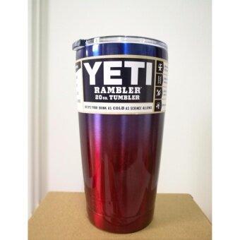 แก้วเบียร์ แก้วน้ำ YETI Cups Cars Beer Mug (ทูโทน - สีน้ำเงิน แดง)